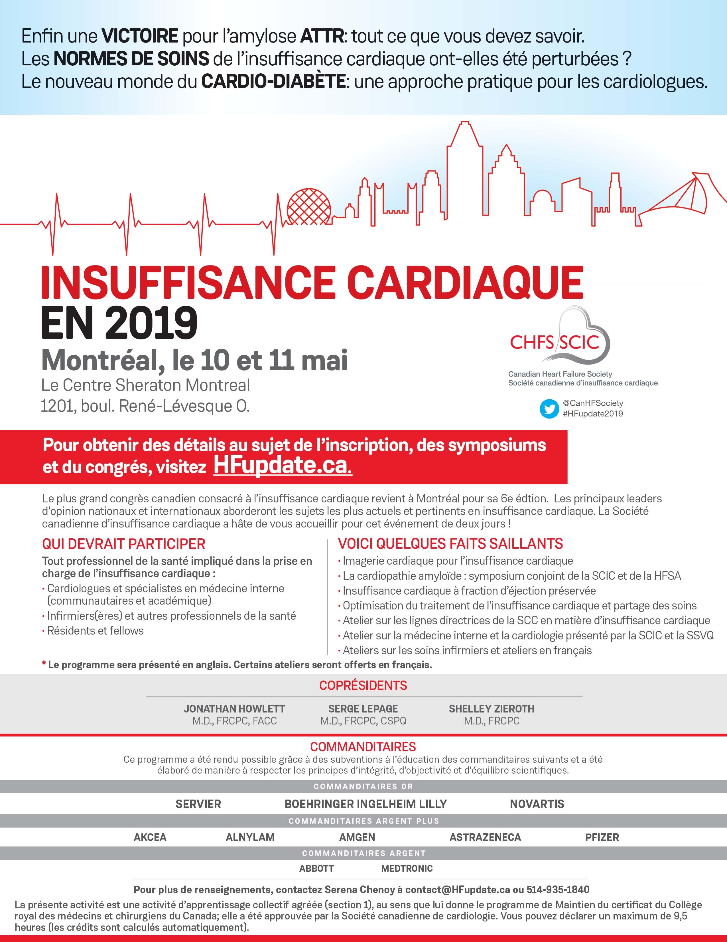 HF Update - Société canadienne d'insuffisance cardiaque - SQIC